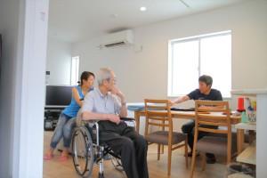 1階は段差も無いので、車椅子の父も安心して生活が出来ます。
